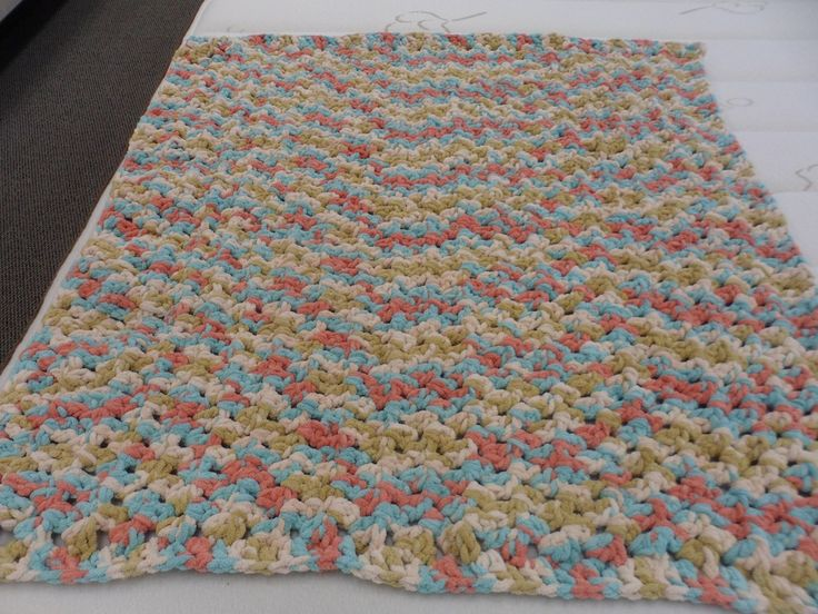 Easy Crochet Baby Blanket Patterns For Beginners : Bernat Sailors Delight Blanket Yarn; Baby Afghan made with ...
