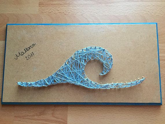 Custom wave string art