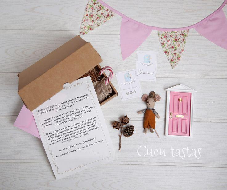 Caja de regalo personalizado del ratoncito Pérez maileg.