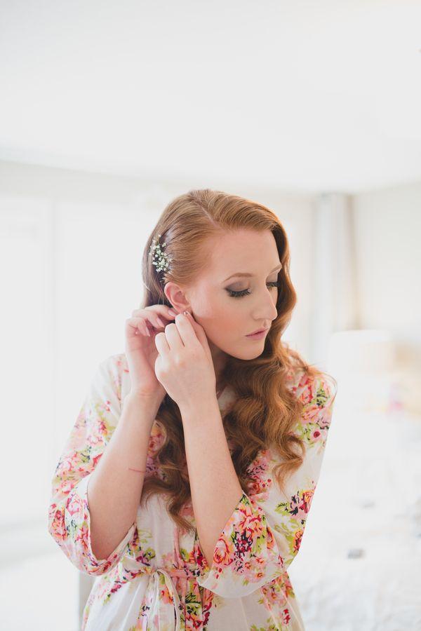 Elyse   Brent: Elegant Garden Wedding. Bride Getting Ready