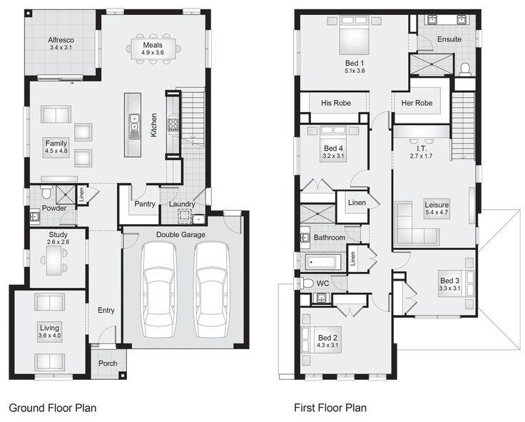 Parkhill 32    Floor Plan - 301.00sqm, 11.30m width, 17.40m depth    Clarendon Homes