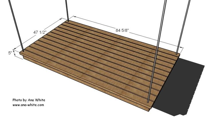 Hanging Daybed Free Plans