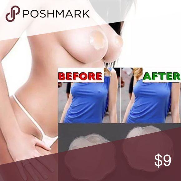 1Pair Self-Adhesive Silicone Nipple Cover Pasties 1Pair Cool Reusable Self-Adhesive Silicone Breast Nipple Cover Bra Pasties Pad nude color Intimates & Sleepwear Bras