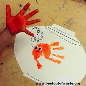 Hand Print Craft Ideas for Kids To Make School Projects | Best Out Of Waste