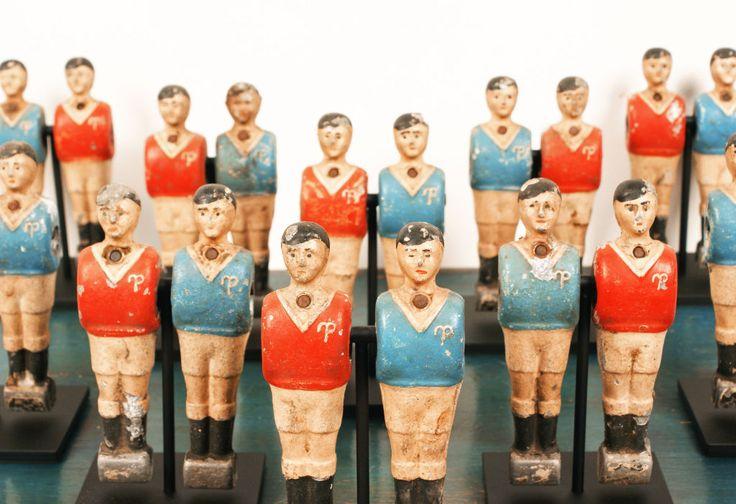 early american table football/foosball players