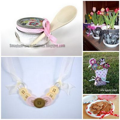 DIY Mother's Day Gifts ideas -from ribbon around plate... fun idea