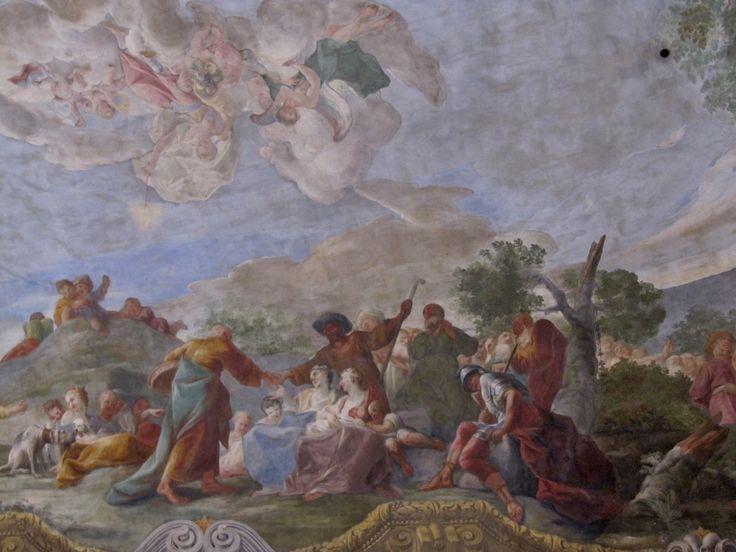 Paul Troger - Hradisko u Olomouce,refektář - Zázračné nasycení zástupu, 1731