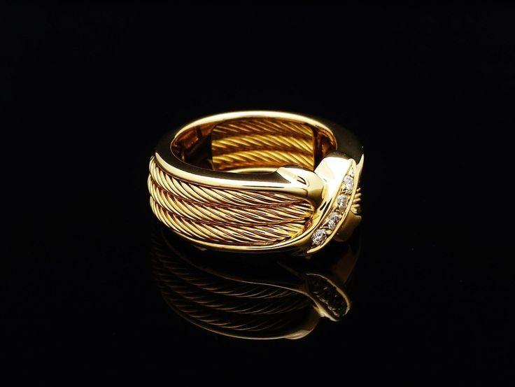 RARE New Retro Philippe Charriol Ring w Diamonds 18K Solid Gold SZ6 5 | eBay