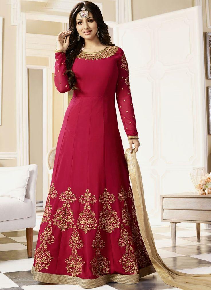 Online shopping best new style indian bollywood celebrity replica anarkali salwar kameez. Buy online transcendent brasso georgette red floor length anarkali suit now.