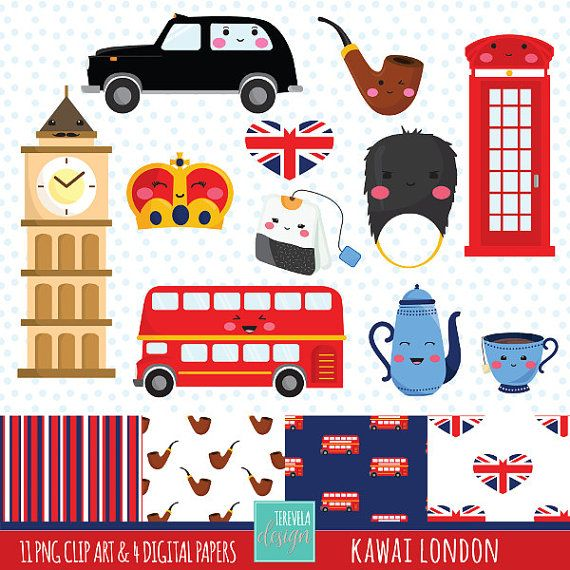London Digital Clipart set includes 11 cute graphics and 4 digital paper  PERSONAL AND SMALL COMMERCIAL USE  This clip art pack is perfect for scrapbooking, paper crafts, card design, stickers, party invitations ... and much more!  DOWNLOAD INSTANT / NO SHIPPING  You will receive: ★ 1 zip containing 11 Files (12 x12 approx | 300 dpi) in PNG format with transparent background and 4 digital paper (12 x12 | 300 dpi)   The file can be downloaded immediately after your payment is confirmed. ...