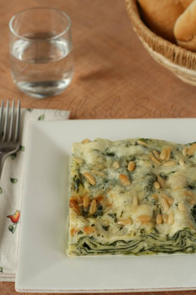 Lasagna+spinaci+gorgonzola+e+pinoli