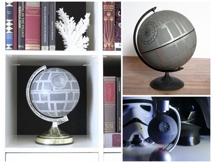 Geek Home Decor: Make your own Star Wars DIY Death Star Globe. Four different examples/tutorials..