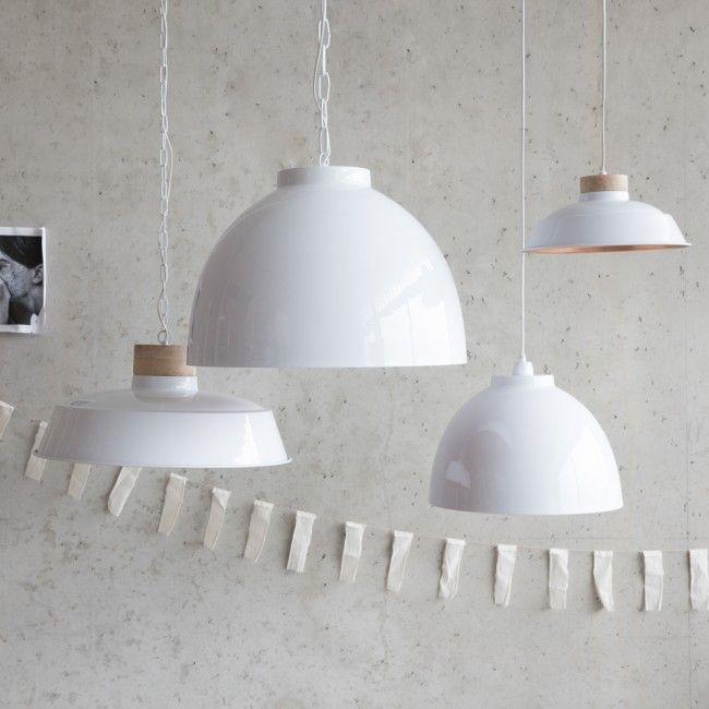 Hanglamp Wit Rose Goud