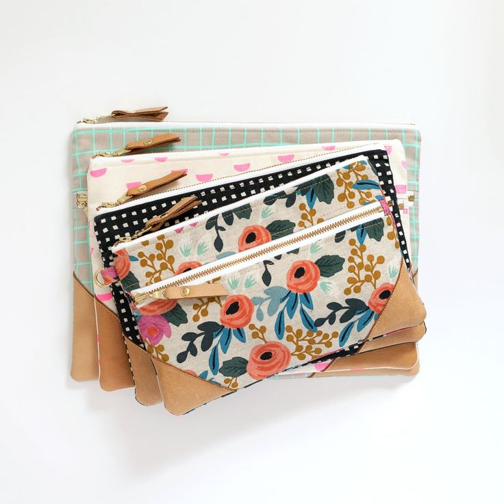 Double Zip Pouch | PDF Sewing Pattern by LBG STUDIO