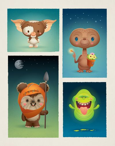 """""""An 80's Thing"""" for the SUMMERLAND MOVIE CLUB art show presented by supahcute and leanna lin's wonderland."""
