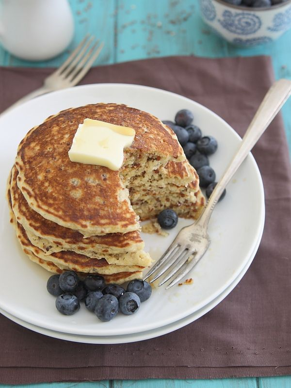 Meyer Lemon Quinoa Pancakes #quinoa #pancakes