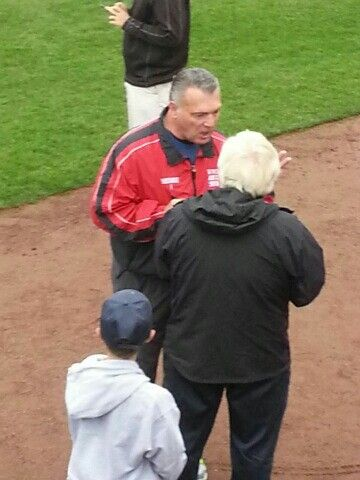 Former Red Sox Bernie Carbo is at the Sea Dogs game tonight.