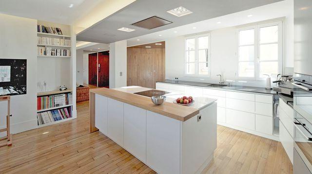Cacher une cuisine ouverte maison design - Cacher cuisine ouverte ...