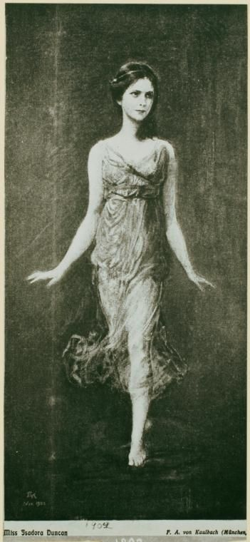 Isadora Duncan,1904(May 26, 1877 - September 14, 1927), dancer. The mother of modern dance. Died when the scarf she was wearing became wrapped in the wheels of the car she was riding in. She was thrown from the vehicle and strangled. ~Historical People  Events~