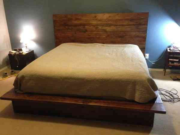 Diy bed frame wood