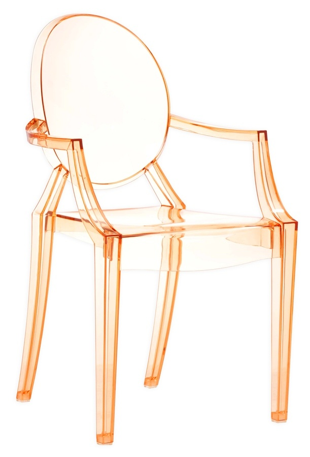 What a fab color.Transparent Orange, Zuo Modern, Animal Dining, Dining Chairs, Acrylics Chairs, Armchairs, Furniture, Accent Chairs, Anime