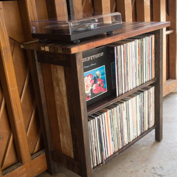 Turntable Stand & LP Storage. Made from by DenneheyDesign on Etsy