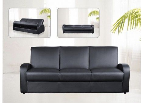 Kimberley PU Leather Sofa Bed -  The Kimberley Leather Sofa Bed functions as a regular sofa, at night it can be transformed in mere minutes to provide a generously. This contemporary style sofa bed has sturdy wooden frame and chic PU leather upholstery with intricately detailed stitching which forms a paneled design.