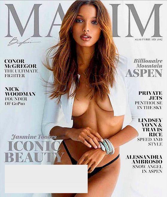 MAXIM Magazine February 2017 JASMINE TOOKES, Alessandra Ambrosio, Conor McGregor