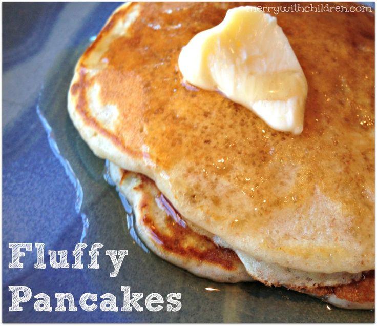 Whole wheat and white flour. Good pancakes.