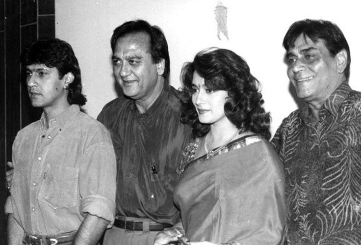WITH KUMAR GURU, MADHURI DIXIT AND RAJENDRE KUMAR