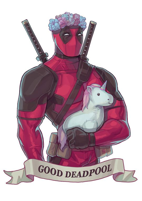 #deadpool #unicorn <<< those two words are rarely seen together. Let's savor this moment.