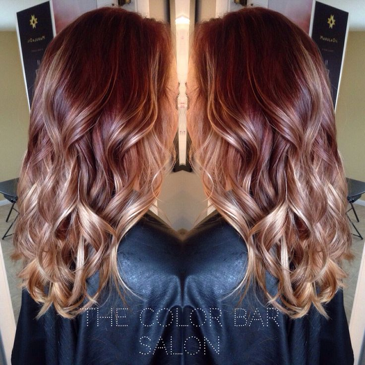 Red Brown To Blonde Ombr 233 The Color Bar Salon Pinterest