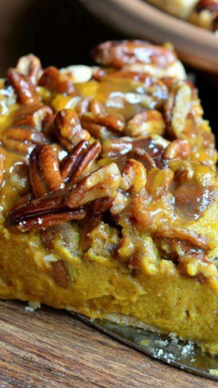 Pecan Caramel Pumpkin Pie Recipe ~ Amazing!