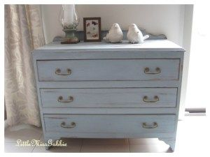 milk paint  small chest of drawers