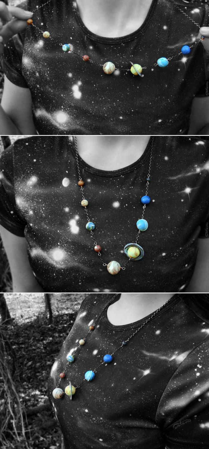 Solar System Planet Necklace via Etsy.