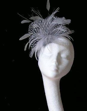 Metalic Silver Fascinator Hat for Weddings Races by Hatsbycressida, $45.00