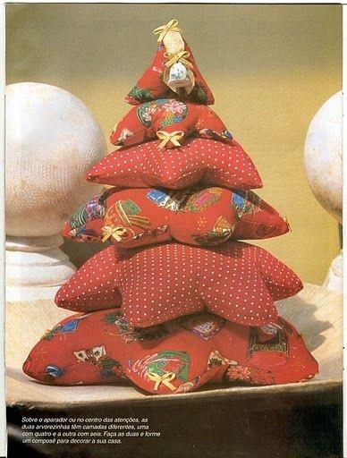 17 mejores ideas sobre adornos de navidad de tela en - Adornos de navidad de tela ...