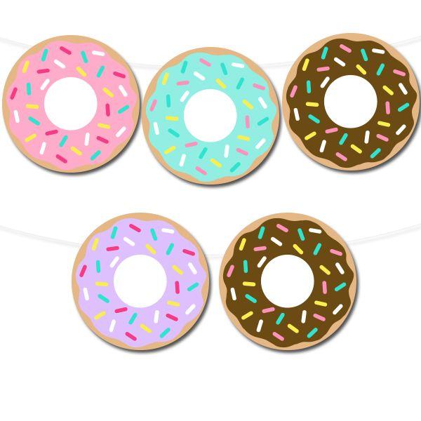 Free Printable Donut Banner | via @Printable Party Decor #freeprintable