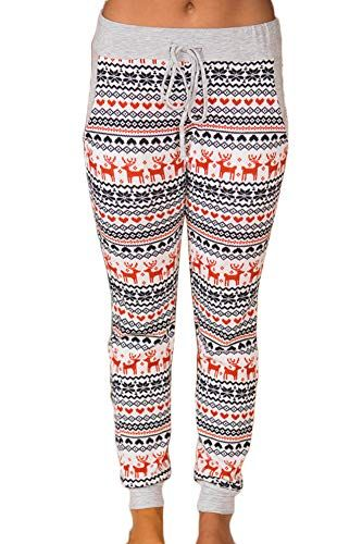 6cc80ffdad Beautiful For G and PL Christmas Women s Plaid Snowflakes Pajamas Pants  with Pocket Christmas Clothing.