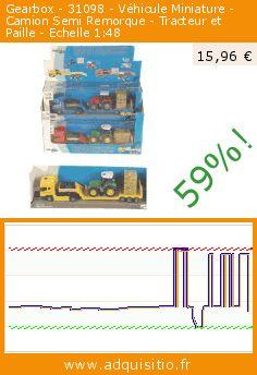 Gearbox - 31098 - Véhicule Miniature - Camion Semi Remorque - Tracteur et Paille - Echelle 1:48 (Jouet). Réduction de 59%! Prix actuel 15,96 €, l'ancien prix était de 38,54 €. https://www.adquisitio.fr/gearbox/31098-v%C3%A9hicule-miniature