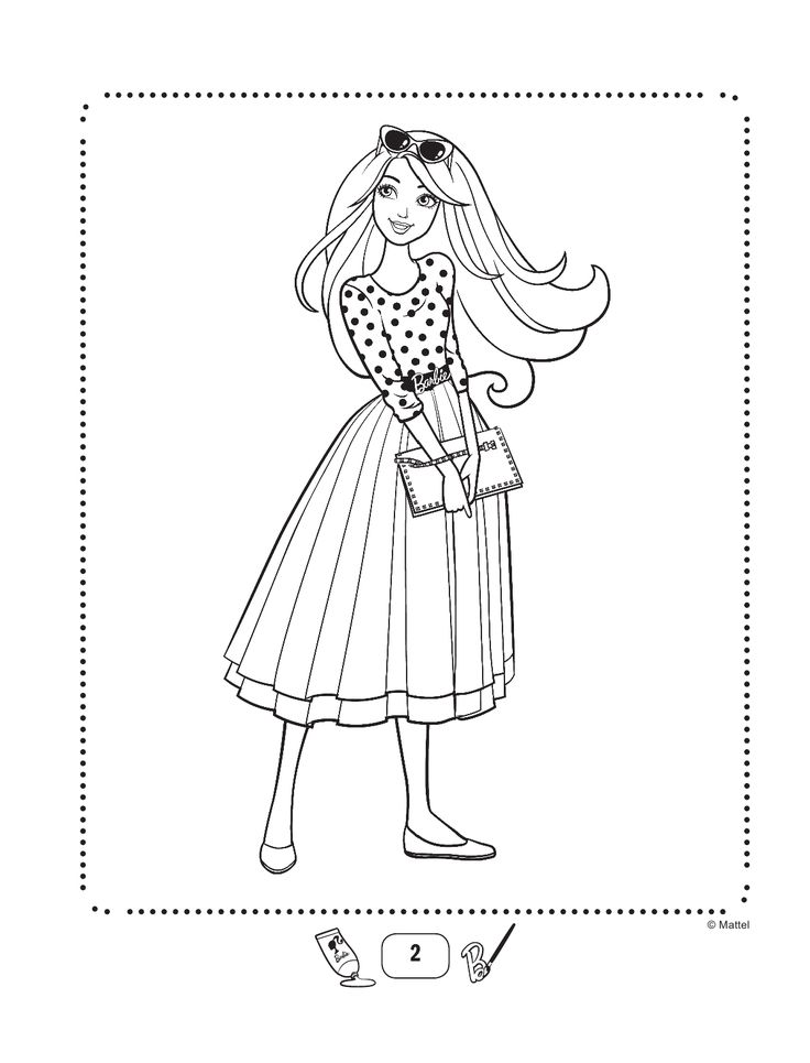 Пин от пользователя Марина на доске Barbie coloring book ...
