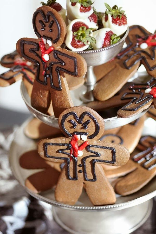 gingerbread halloween vampire cookies recipe - Halloween Gingerbread Cookies