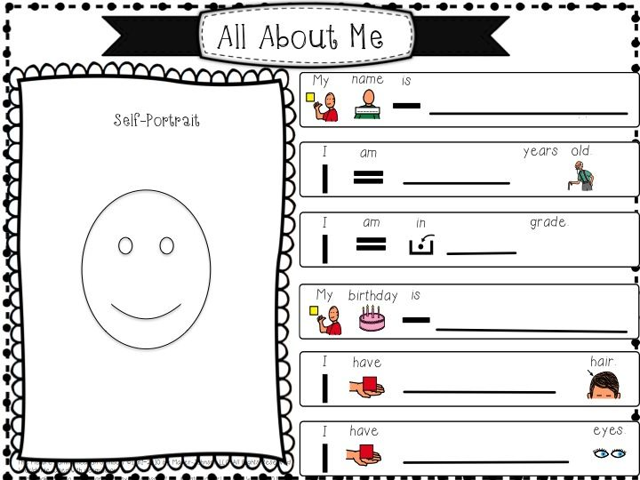 Special School Worksheets : Perfect back to school worksheet activity quot all about me