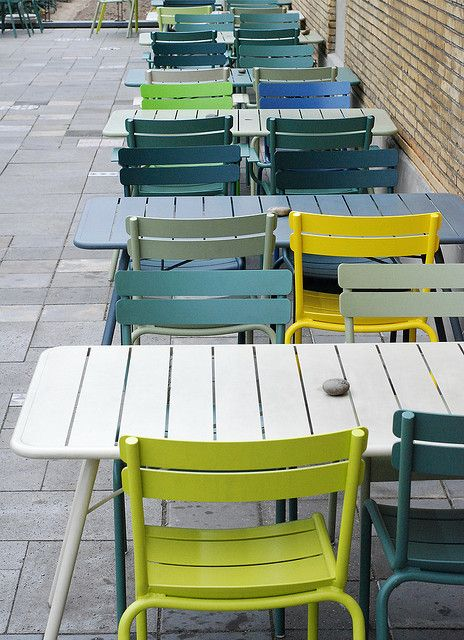 Fermob chairs at Villa Augustus' terrace by Ninainvorm, via Flickr