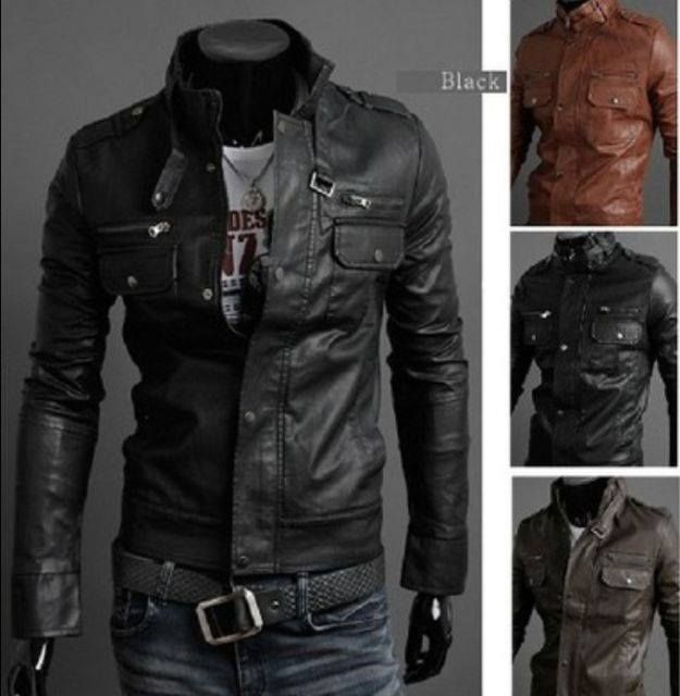 323 best Men's Leather Jackets images on Pinterest   Leather ...