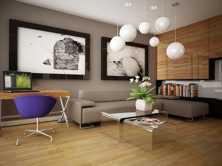 Ciekawy pomysł na aranżację nowoczesnego salonu z dużymi zdjęciami