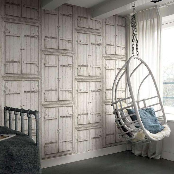 Colección: New Concept 2018. Fabricante: Decoas. Producto: Papel vinílico. Papel pintado puertas madera blanca. Soporte: Tejido no-tejido.