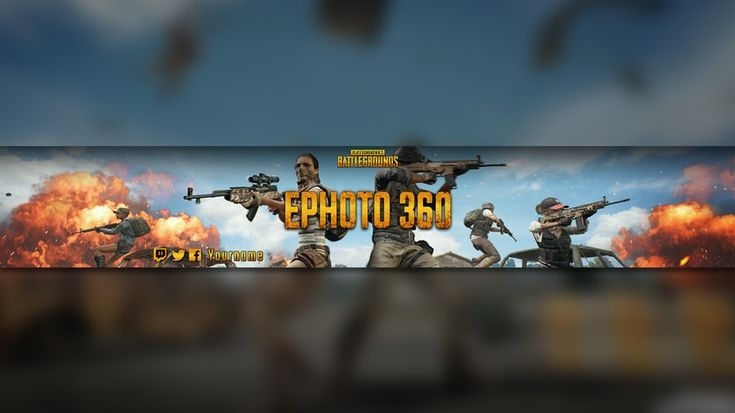 Banner pubg youtube banners youtube banner template