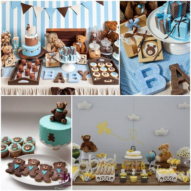 Decoracion para baby shower de osos osito pinterest - Baby shower decoracion ...