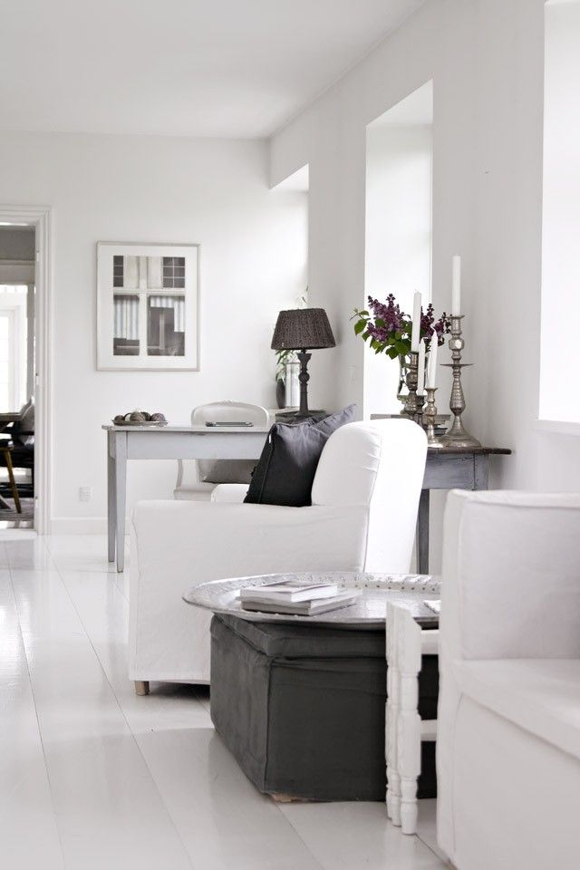 desk - Danish: white, grey and black in the house of Tine K (of Tine K home)